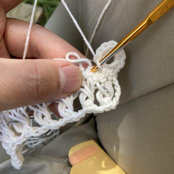 ヘアピン柄編み12